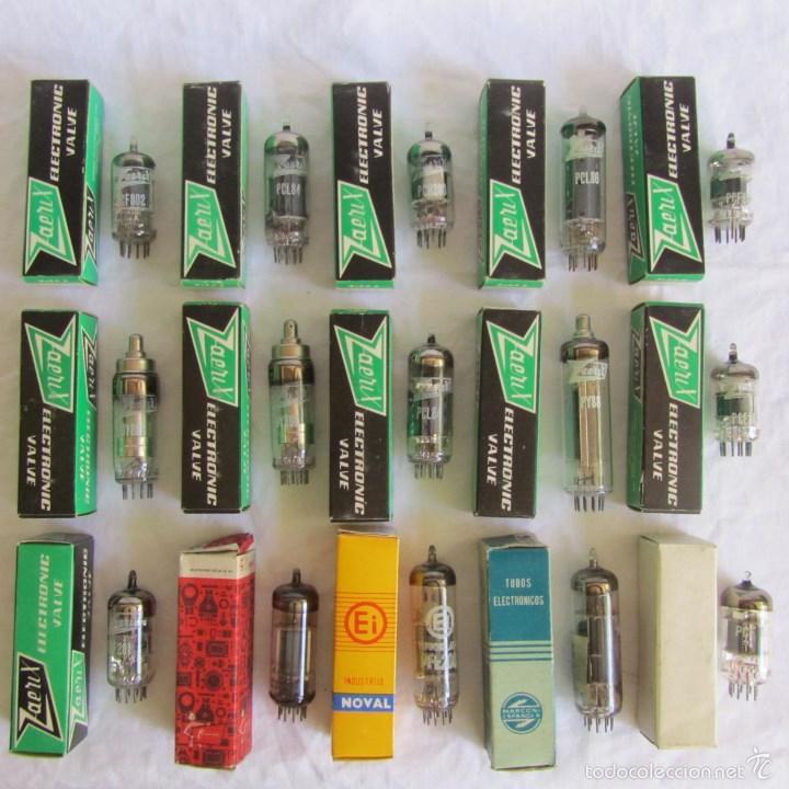 15 VÁLVULAS CAJAS ORIGINALES (Radios, Gramófonos, Grabadoras y Otros - Repuestos y Lámparas a Válvulas)
