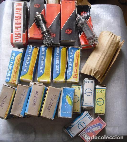 Radios antiguas: Lote 25 valvulas .Nuevos en sus cajas . - Foto 2 - 63463556