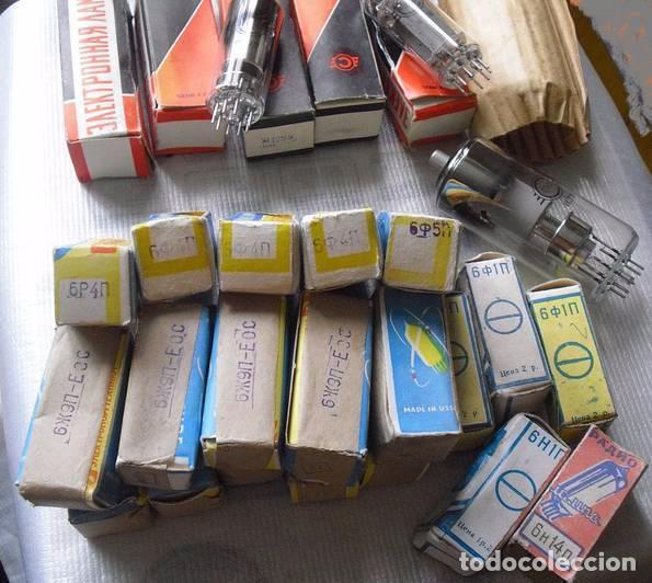 Radios antiguas: Lote 25 valvulas .Nuevos en sus cajas . - Foto 7 - 63463556