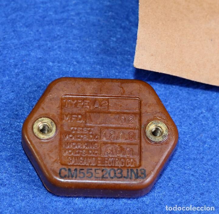 CONDENSADOR DE MICA AEROVOX 0,02 MF - 600 V NOS (Radios, Gramófonos, Grabadoras y Otros - Repuestos y Lámparas a Válvulas)