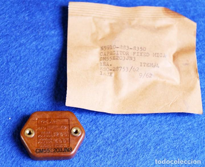 Radios antiguas: CONDENSADOR DE MICA AEROVOX 0,02 MF - 600 V NOS - Foto 2 - 194750388