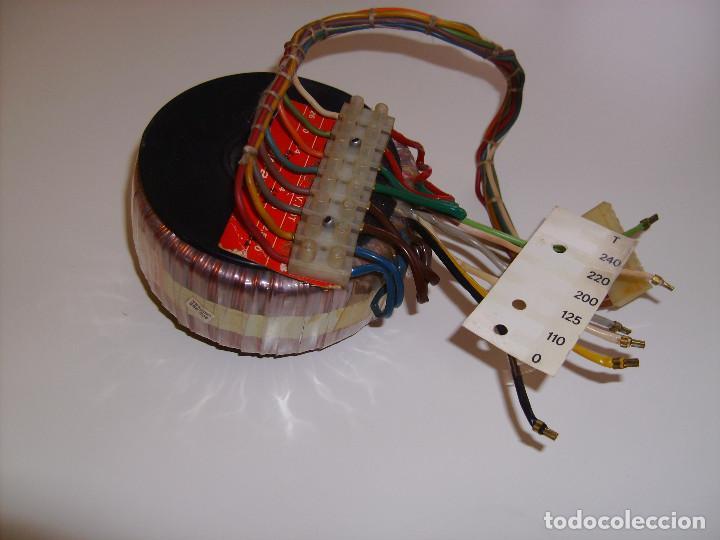 TRANSFORMADOR DE ALIMENTACIÓN TOROIDAL PARA AMPLIFICADOR, RADIO, FUENTE DE ALIMENTACIÓN, ETC. (Radios, Gramófonos, Grabadoras y Otros - Repuestos y Lámparas a Válvulas)