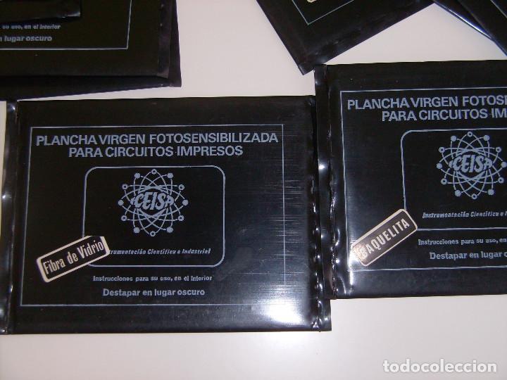 Radios antiguas: Lote 18 placas de fibra de vidrio y de baquelita virgenes de circuito impreso. - Foto 2 - 65433871