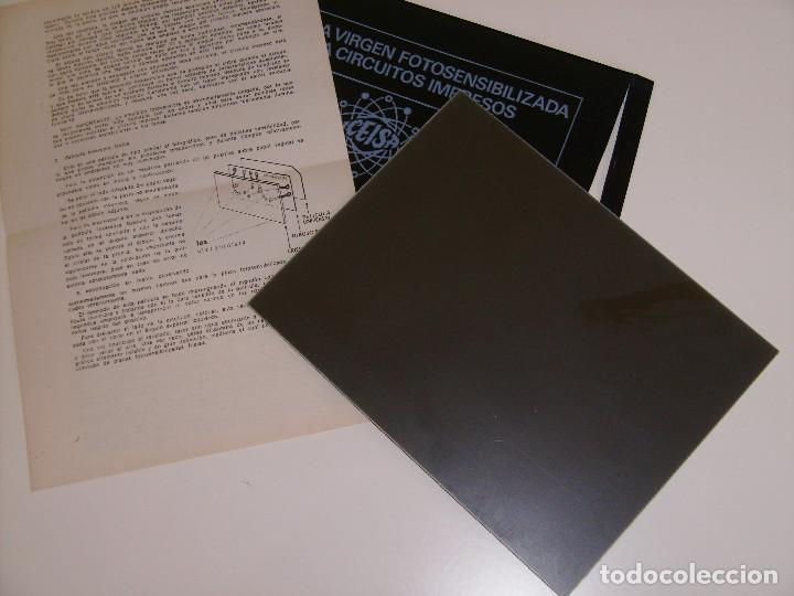 Radios antiguas: Lote 18 placas de fibra de vidrio y de baquelita virgenes de circuito impreso. - Foto 4 - 65433871