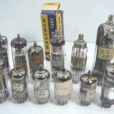 Radios antiguas: JUEGO 12 VALVULAS - RADIO -MINIWAT HALTRON ECC 189 EL504 - LAMP VALVULA LAMPARA. Lote 65838082