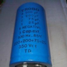 Radios antiguas: CONDENSADOR 350V 200-200-75-25UF TROBO CAPACITOR. VARIOS LOTES DISPONIBLES.. Lote 68354101