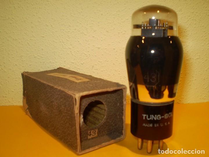 VALVULA 43-TUNG SOL-NOS-TUBE. (Radios, Gramófonos, Grabadoras y Otros - Repuestos y Lámparas a Válvulas)