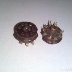 Radios antiguas: ZOCALO PARA VALVULA NOVAL 9 PINS. X5 UNIDADES. (VARIOS LOTES DISPONIBLES). Lote 76732351