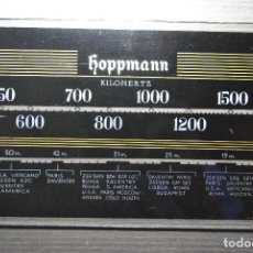 Radios antiguas: FRONTAL CRISTAL RADIO HOPPMANN. Lote 76905387