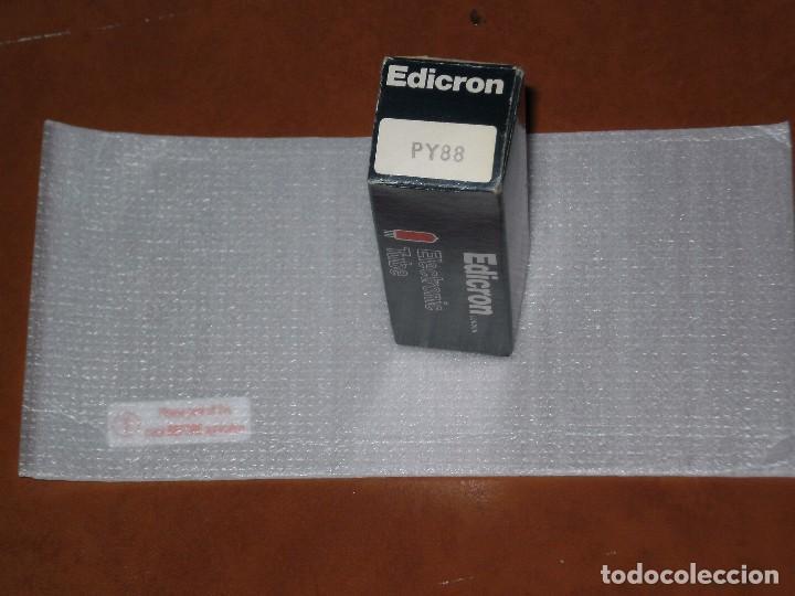 Radios antiguas: LAMPARA PARA RADIO O TELEVISION ?¿ , EDICRON ( LONDON ) . PY88 , DE ALMACEN DESCONOZCO SI FUNCIONA - Foto 3 - 77272513