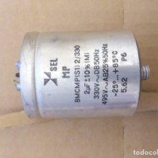 Radios antiguas: CONDENSADOR ELECTROL 2 MICROFARADIOS 330 V - USADO TEST OK EN CAPACIDAD Y ESR. Lote 109463355