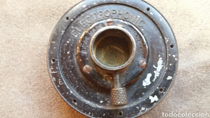 Radios antiguas: Antigua CABEZA DE AGUJA ELECTROPHONIC. FABRIICADA EN SUIZA. ORIGINAL - Foto 2 - 78129406