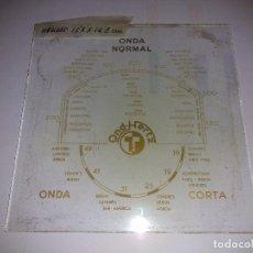 Radios antiguas: CRISTAL DE DIAL DE RADIO ANTIGUO. Lote 80626994