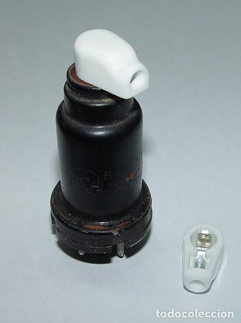 Radios antiguas: Conector superior para valvulas de radio....sanna - Foto 2 - 163808838