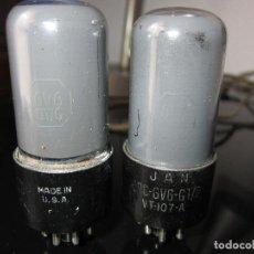 Radios antiguas: 2 VÁLVULAS 6V6 USADAS. Lote 81714476