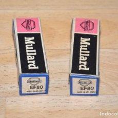 Radios antiguas: PAREJA DE VALVULAS EF80 MULLARD - NUEVAS. Lote 82232280