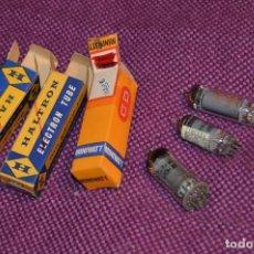 Radios antiguas: VINTAGE - LOTE DE TRES VÁLVULAS - 1UCH42 / 6AQ5 / 12BE6 - 3 X RADIO TUBE - ¡¡HAZME UNA OFERTA!!. Lote 83370764