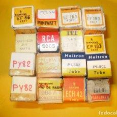 Radios antiguas: LOTE DE 16 VALVULAS RADIO-TV NUEVAS SIN USO.. Lote 83511884