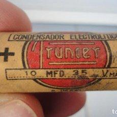 Radios antiguas: ANTIGUO CONDENSADOR ELECTROLITRICO FRUNCER.. Lote 83770680