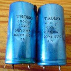 Radios antiguas: LOTE CONDENSADOR ELECROLITICO 6800 UF 63V. Lote 102191414