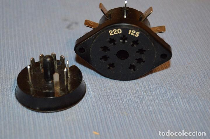 Radios antiguas: Conmutador tensión o voltaje 125/220 - Para radios o amplificadores antiguos de válvulas - Bakelita - Foto 5 - 97035143