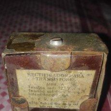 Radios antiguas: ELEVADOR-RECTIFICADOR RADIO ANTIGUA. Lote 100735927