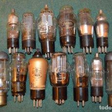 Radios antiguas: LOTE DE 13 VÁLVULAS DE RADIO ANTIGUAS MULLAR, OSRAM, MAZDA, BRIMAR, PHILCO.. Lote 100749419