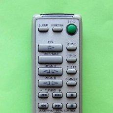 Rádios antigos: MANDO A DISTANCIA SONY RM-SX15 SYSTEM AUDIO PARA CADENA NX3AV. Lote 102496391