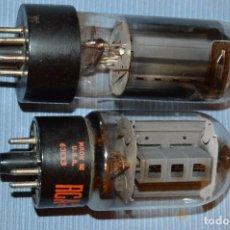 Radios antiguas: LOTE 2 LÁMPARAS / VÁLVULAS - TIPO/MODELO 63EX3 RCA Y OTRA SIN DATOS - MIRA, HAZ OFERTA. Lote 103988355