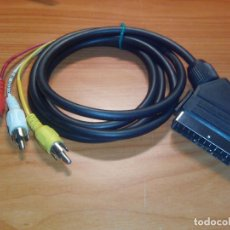 Radios antiguas: CABLE EUROCONECTOR A RCA 2 AUDIO 1 VIDEO. Lote 111066639