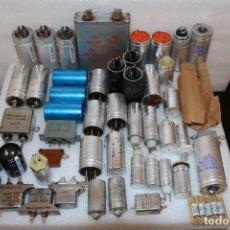 Radios antiguas: LOTE DE CONDENSADORES ELECTROLITICOS VARIOS VALORES + DE 3 KILOS DE CONDENSADORES - NOS - LOTE 3287. Lote 113329087