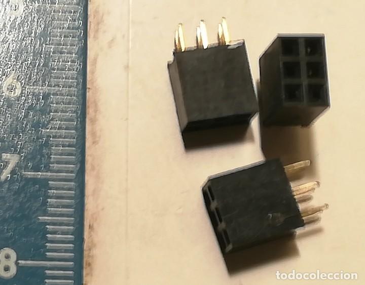 Radios antiguas: 4 CONECTOR 3 de 6 PIN y 1 de 16 PIN NOS (Antiguo stock sin usar) - Foto 2 - 116276767
