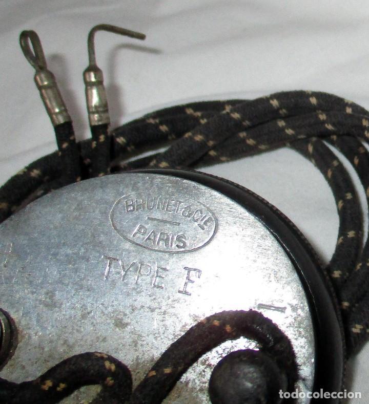 Radios antiguas: AURICULAR BRUNET TYPE F PARA RADIO DE GALENA CON CABLE Y CONEXIONES. - Foto 4 - 118425243