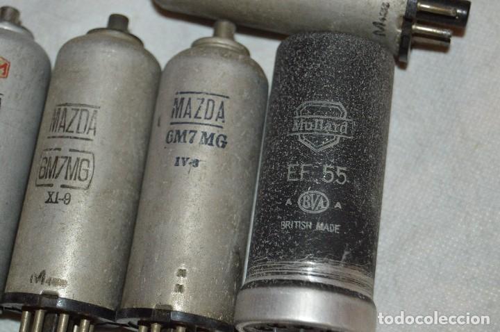 Radios antiguas: ANTIGUO Y VINTAGE - LOTE DE 6 VÁLVULAS - MAZDA - 6M7MG / 607MG / EF55 - HAZME UNA OFERTA - Foto 4 - 119232815