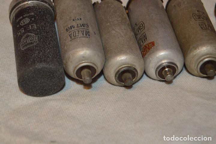 Radios antiguas: ANTIGUO Y VINTAGE - LOTE DE 6 VÁLVULAS - MAZDA - 6M7MG / 607MG / EF55 - HAZME UNA OFERTA - Foto 9 - 119232815