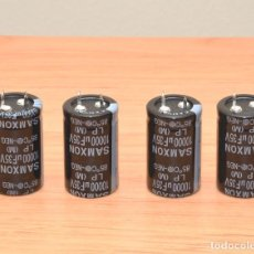 Radios antiguas: 4 CONDENSADORES ELECTROLÍTICOS DE 10.000UF - 35V CONDENSADOR. Lote 120795563