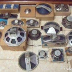 Radios antiguas: LOTE DE ANTIGUOS ALTAVOCES. ALGUNOS EN SU CAJA ORIGINAL. Lote 120895459