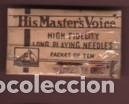 SOBRE ORIGINAL DE UN SOBRE DE 10 AGUJAS DE GRAMÓFONO - HIS MASTER`S VOICE -LONG PLAYING NEEDLES (Radios, Gramófonos, Grabadoras y Otros - Repuestos y Lámparas a Válvulas)