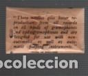 Radios antiguas: sobre original de un sobre de 10 agujas de gramófono - his master`s voice -long playing needles - Foto 2 - 121513819