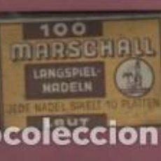 Radios antiguas: SOBRE COMPLETO CON 100 AGUJAS DE MARSCHALL - LANGSPIEL NADELN LAUT JEDE NADEL - SIN ABRIR. Lote 122615827
