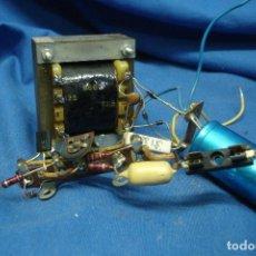 Radios antiguas: TRANSFORMADOR 220/125 V. SALIDA A 15,5 V. CON RECTIFICADOR DE VOLTAGE - FUNCIONA. Lote 123531275