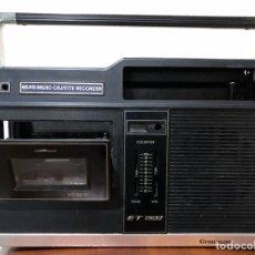 Radios antiguas: CUERPO O CAJA DE RADIO CASSETTE MARCA GRONINGEN. Lote 125352135
