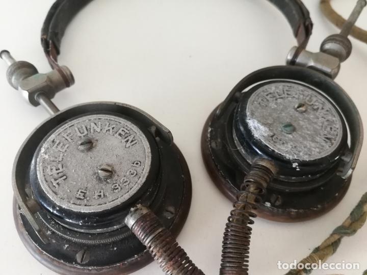 Radios antiguas: ANTIGUOS AURICULARES TELEFUNKEN - Foto 9 - 130596094