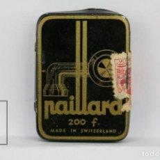 Radios antiguas: CAJA METÁLICA DE AGUJAS GRAMÓFONO - PAILLARD - MADE IN SWITZERLAND / SUIZA - CON AGUJAS. Lote 134738058