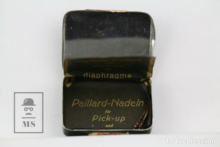 Radios antiguas: Caja Metálica De Agujas Gramófono - Paillard - Made In Switzerland / Suiza - Con Agujas - Foto 2 - 134738058
