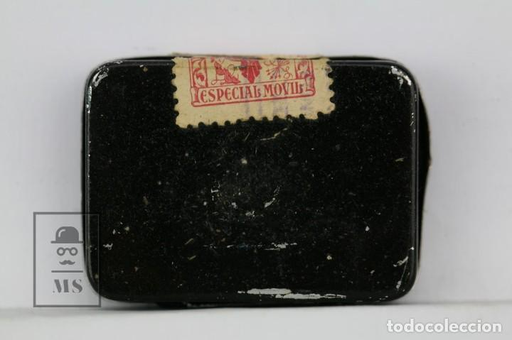 Radios antiguas: Caja Metálica De Agujas Gramófono - Paillard - Made In Switzerland / Suiza - Con Agujas - Foto 3 - 134738058