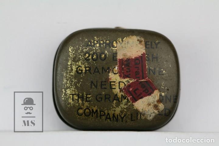 Radios antiguas: Caja Metálica De Agujas Gramófono - His Master Voice/La Voz De Su Amo - Made In England - Con Agujas - Foto 3 - 134738566
