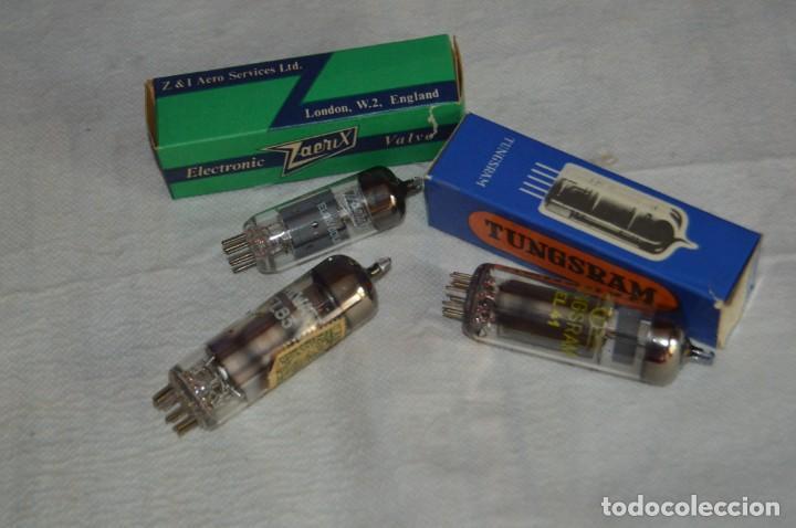 LOTE DE 3 VÁLVULAS - EL41 - EL86 - EL95/6DL5 - TUNGSRAM - ZAERIX - MINIWATT - VINTAGE - ENVÍO24H (Radios, Gramófonos, Grabadoras y Otros - Repuestos y Lámparas a Válvulas)