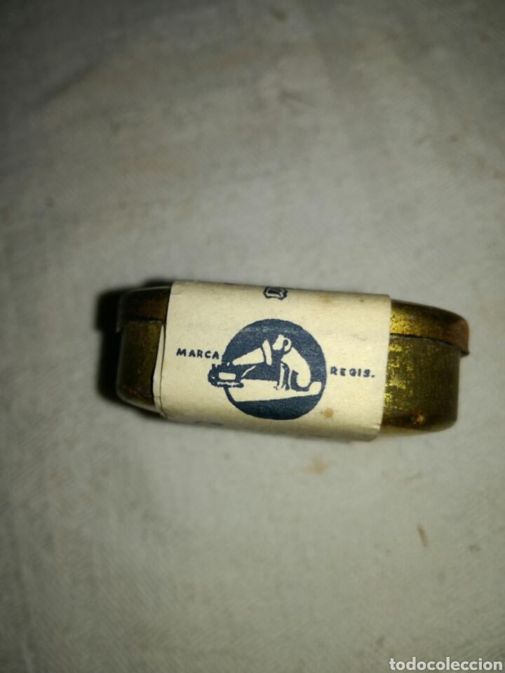 Radios antiguas: Caja de agujas gramófono La voz de su amo, sin utilizar - Foto 2 - 137883234