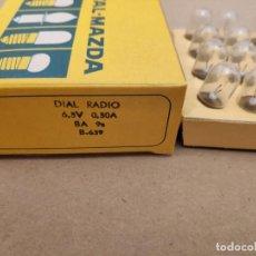 Radios antiguas: 20 UNIDADES DE BOMBILLA PARA DIAL - BAYONETA - MAZDA - 6,3V - 300MA - NOS. Lote 147568157